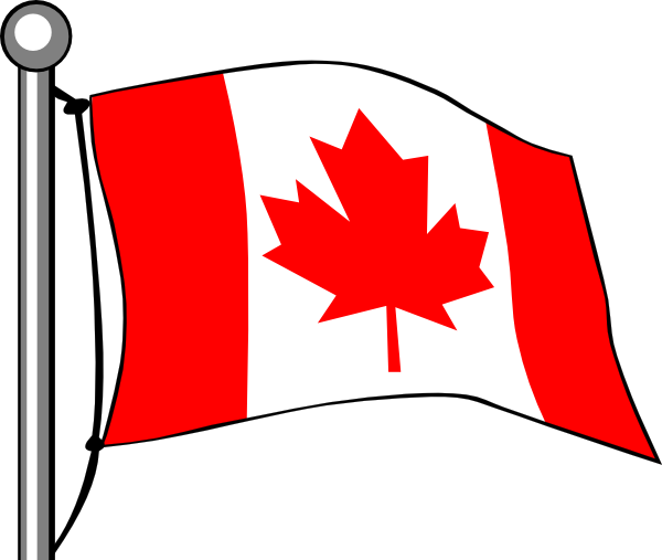 Canada Flag Flying Clip Art At Clker Com   Vector Clip Art Online