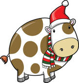 Christmas Cow Illustrations And Clipart  28 Christmas Cow Royalty Free