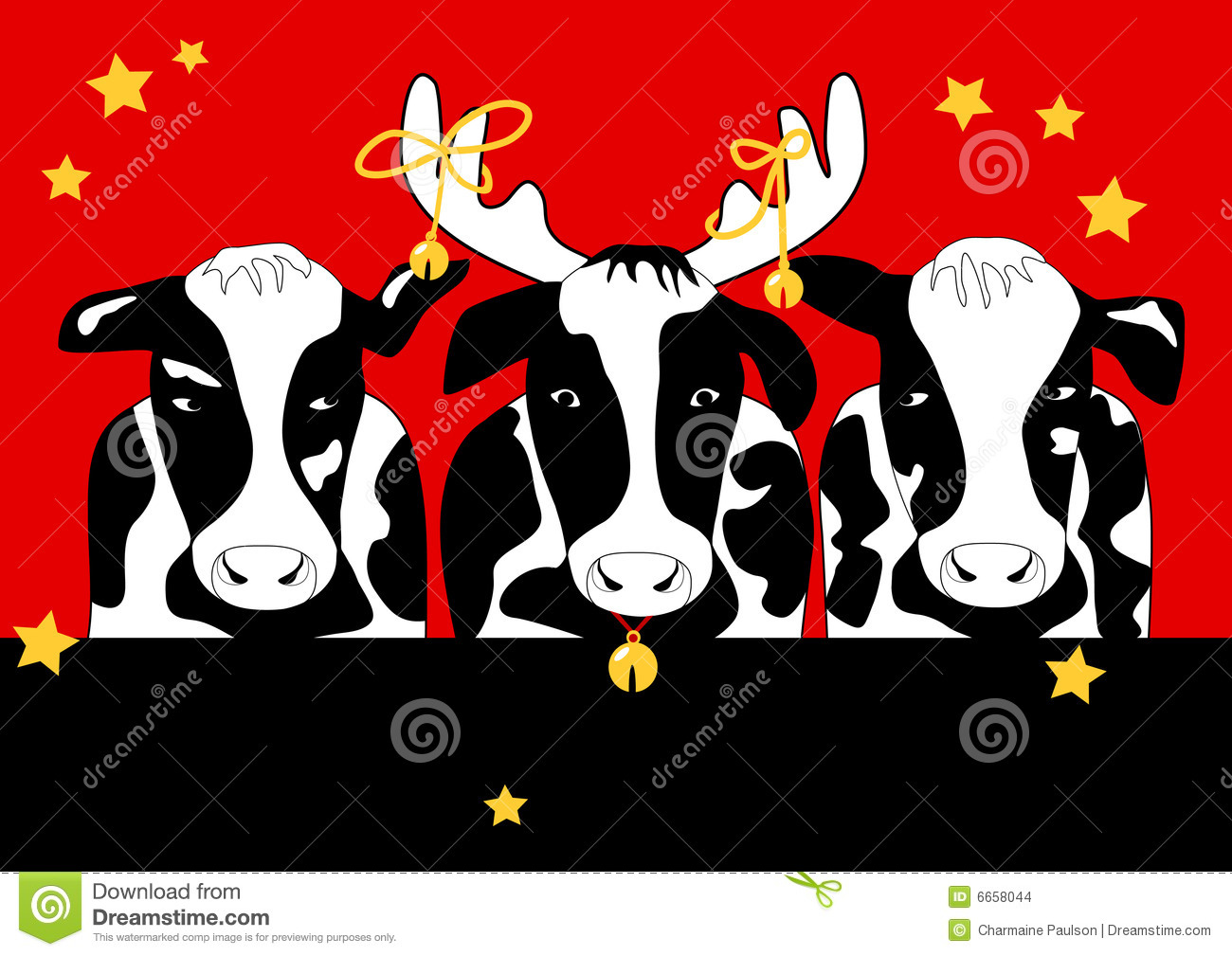 Christmas Cow Is Original Artwork  The Vector File Is In Ai Eps8