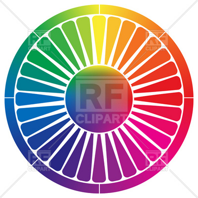 Color Palette Wheel Download Royalty Free Vector Clipart  Eps