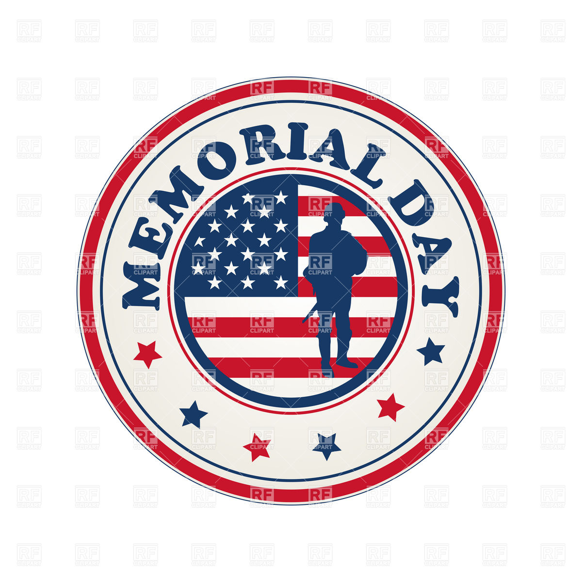 Day Stamp With Flag Of Usa Download Royalty Free Vector Clipart  Eps