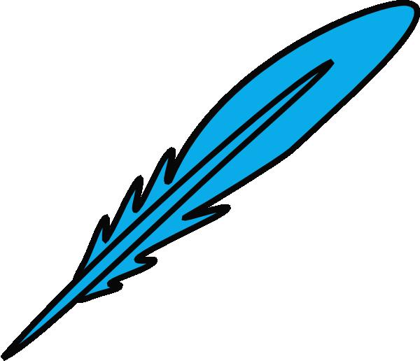 Feather Blue Black Clip Art At Clker Com   Vector Clip Art Online