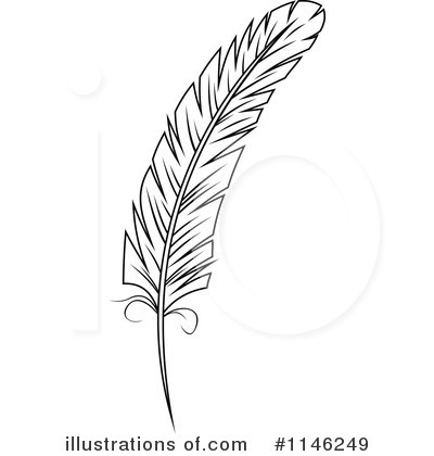 Feather Clipart  1146249   Illustration By Seamartini Graphics