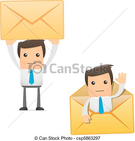 Manager   Set Of Funny Cartoon Office    Csp5863297   Search Clipart