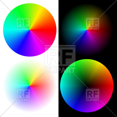 Palette Color Wheel   Round Rgb Sampler Download Royalty Free Vector
