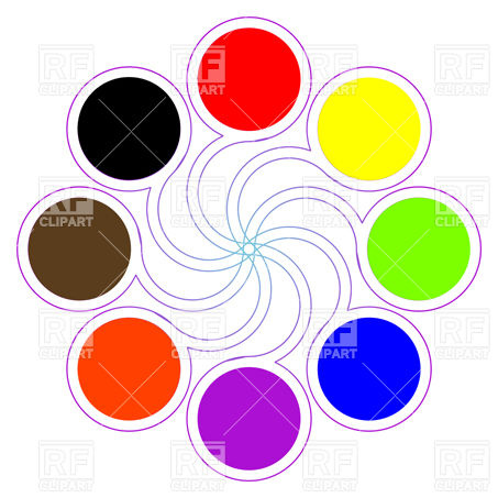 Round Color Palette Download Royalty Free Vector Clipart  Eps