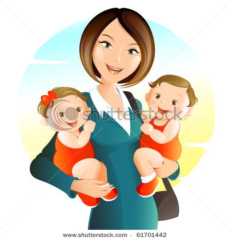 Cartoon Mommy Clipart - Clipart Kid