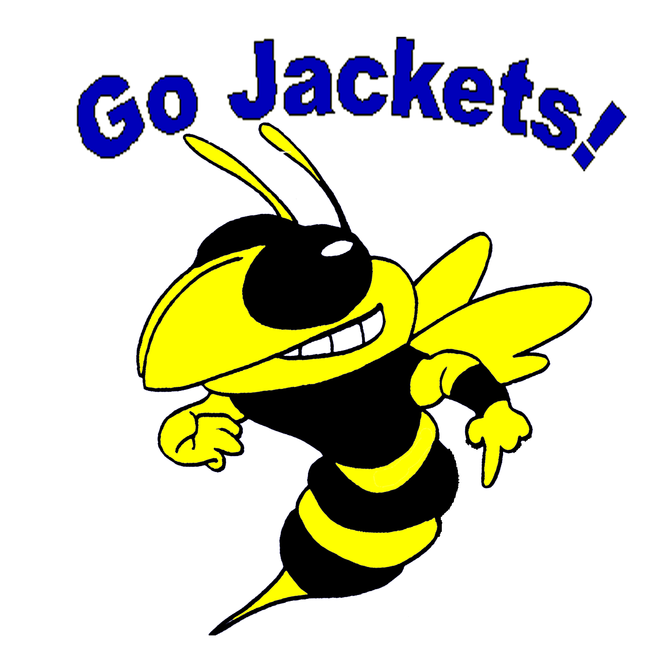Yellow Jacket Mascot Image Of Clipart   Free Clip Art Images