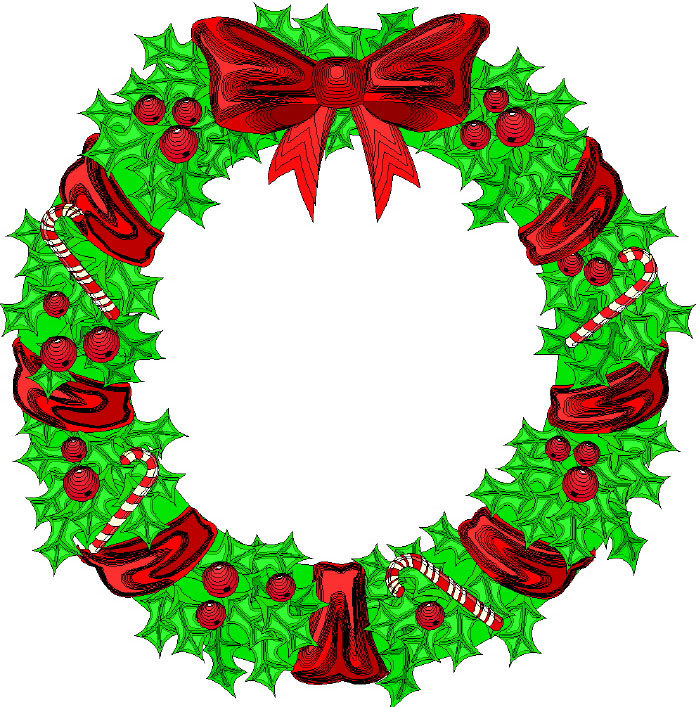 Free Christmas Wreath Clipart - Clipart Kid