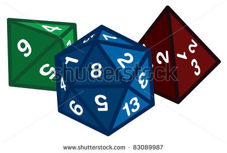 Polyhedral Dice Clip Art
