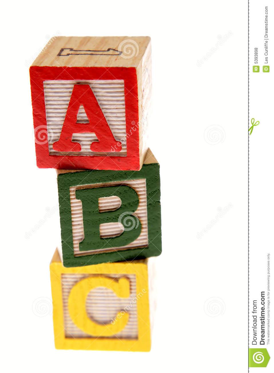 Abc Blocks Royalty Free Stock Photos   Image  5393898