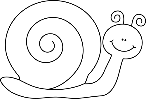 Snail Clip Art Black And White snail black and white clipart - clipart ...