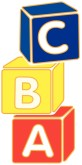 Cartoon Baby Blocks Stacked Block Letters Clipart