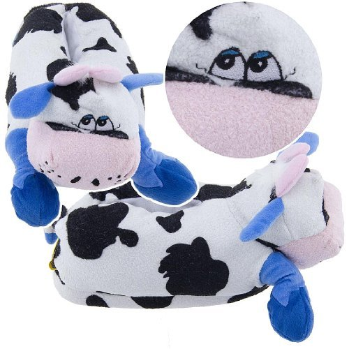 Crazy Cow Animal Slippers For Women And Men B0077qu39i On Animal