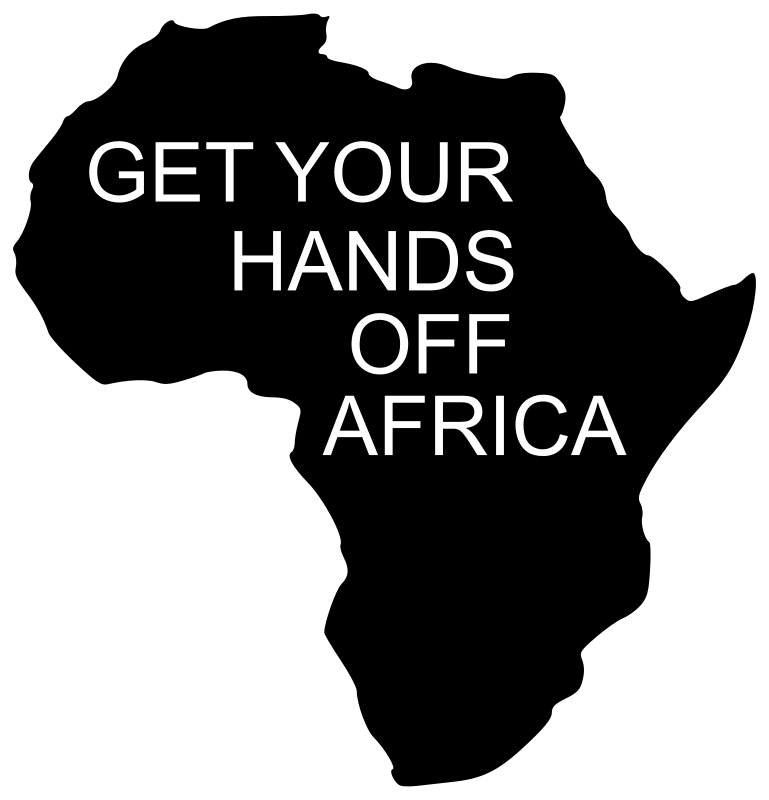 Hands By Your Side Clip Art Get Your Hands Off Africa