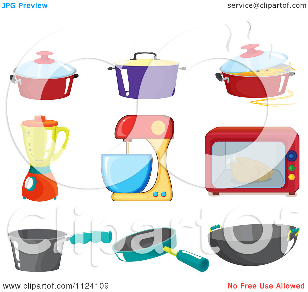 Kitchen Appliances Clip Art ~ Cartoon kitchen clipart kid