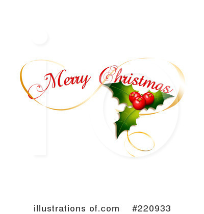 Merry Christmas Clipart  220933 By Andresr   Royalty Free  Rf  Stock