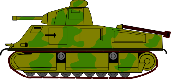Military Tank Clip Art At Clker Com   Vector Clip Art Online Royalty