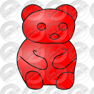 Red Bear Picture For Classroom   Therapy Use   Great Red Bear Clipart