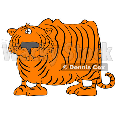 Royalty Free  Rf  Clipart Illustration Of A Confused Tiger Looking At