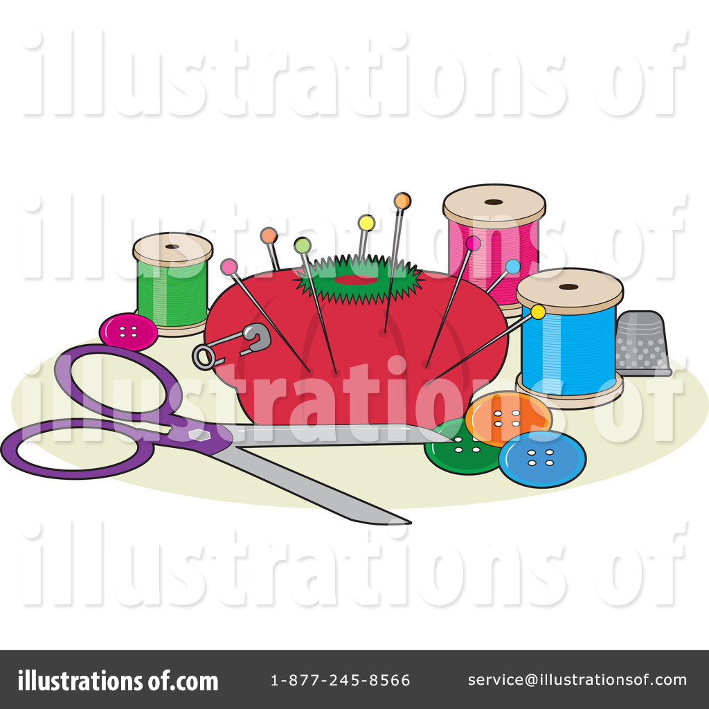 Royalty Free  Rf  Sewing Clipart Illustration By Maria Bell   Stock