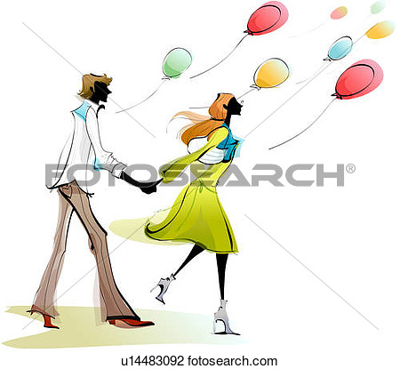 Side Profile Of A Couple Holding Each Other S Hands And Running View
