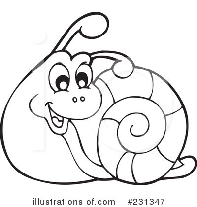 Snail Clipart Black And White