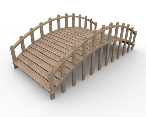 Wooden Bridge Clip Art Produced By 3dcg Clip Art