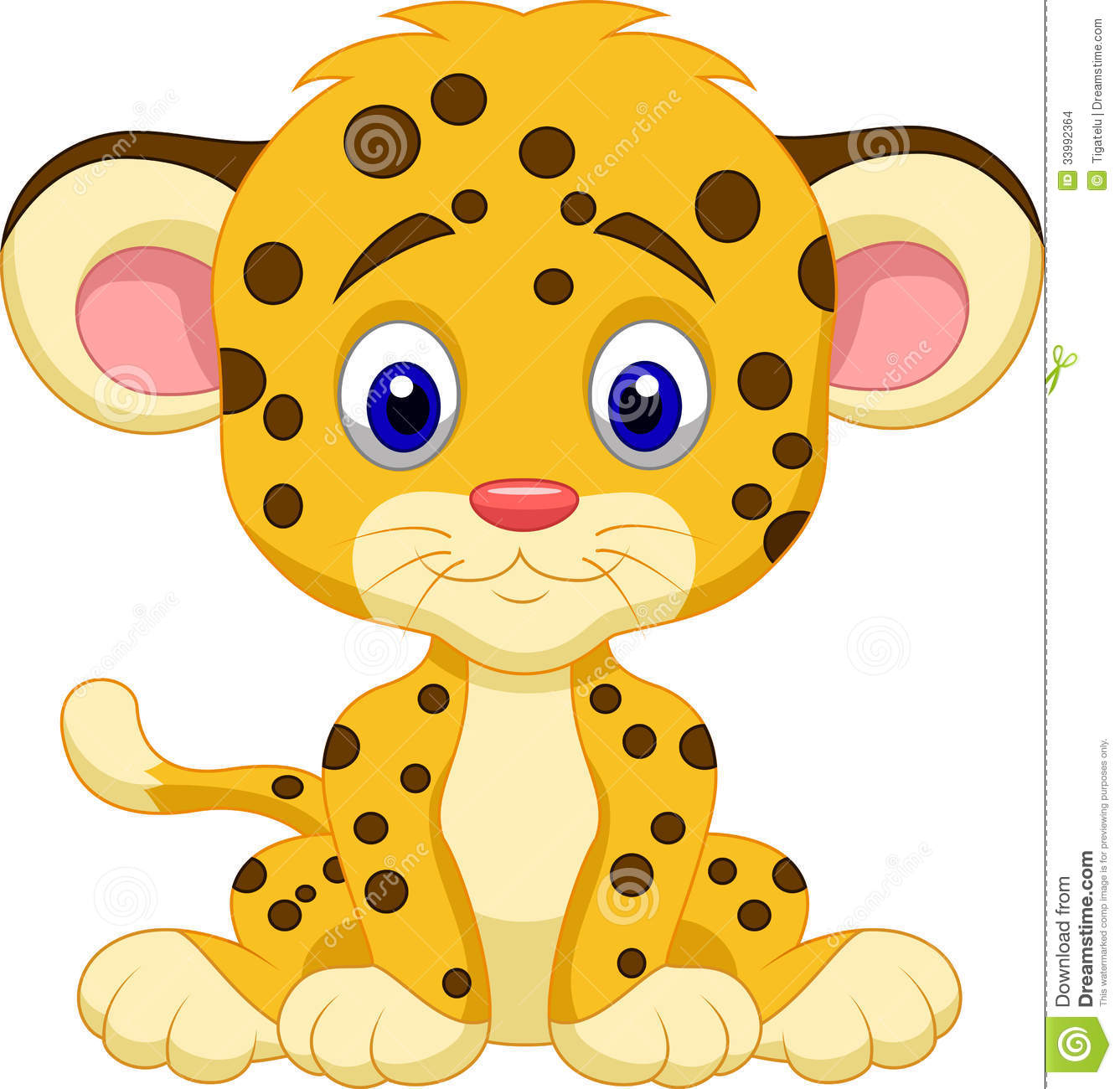 Baby Leopard Cartoon Stock Images   Image  33992364
