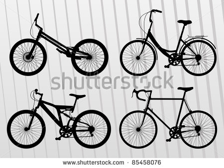 Bicycle Illustration Collection   Stock Vector