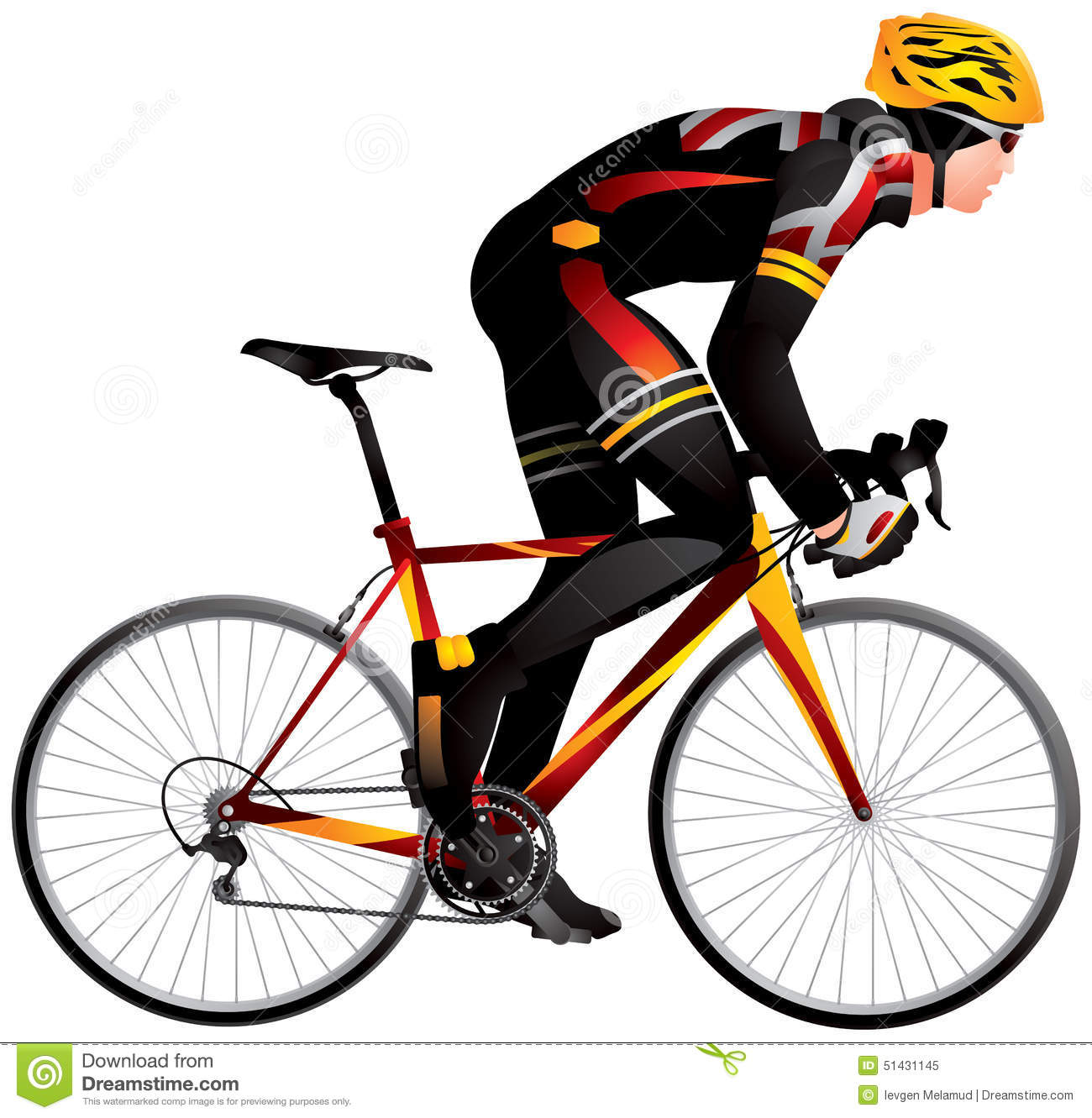 Bicycle Racer 2 Dynamic Start Cycle Race Derby Stock Vector   Image