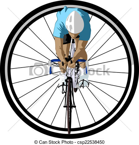 Bicycle Racer In Wheel   Csp22538450