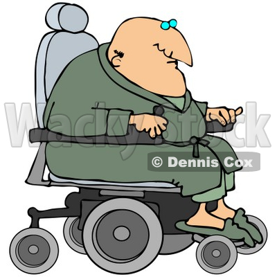 Clipart Illustration Of A Geriatric Senior Man In A Green Robe And