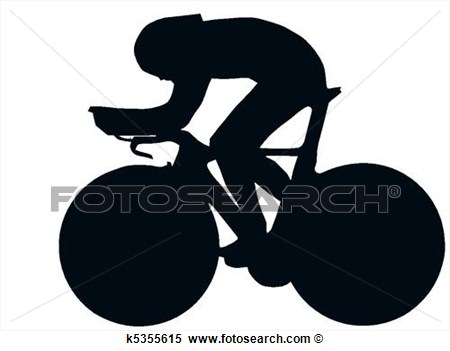 Clipart   Sport Silhouette   Bicycle Racer  Fotosearch   Search Clip