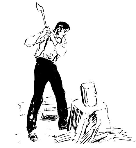 Com Working People At Work Men Working Man Chopping Wood Png Html