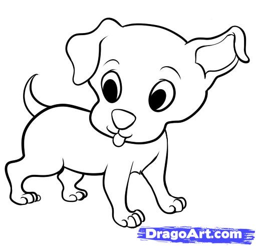 Cute Puppies Pictures To Color