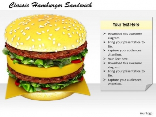 Developing Business Strategy Classic Hamburger Sandwich Clipart Images