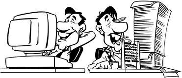 Men Working Cartoon Design Vector Clipart Royalty Free Stock Image