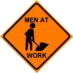 Men Working Caution Road Construction Sign   Clipart Best   Clipart