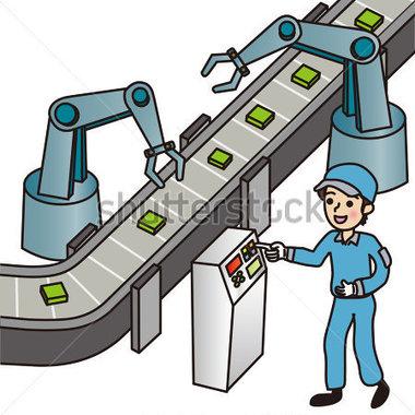 Men Working In The Factory Stock Vector   Clipart Me
