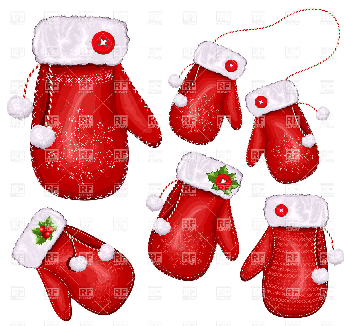 Of Christmas Gift Mittens Download Royalty Free Vector Clipart  Eps