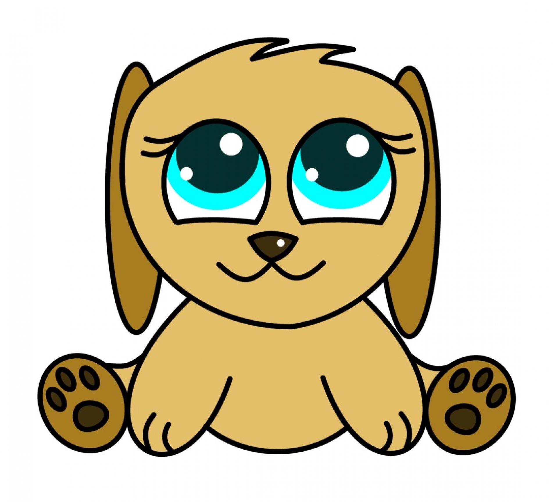Cute Puppy Easy Clipart - Clipart Kid