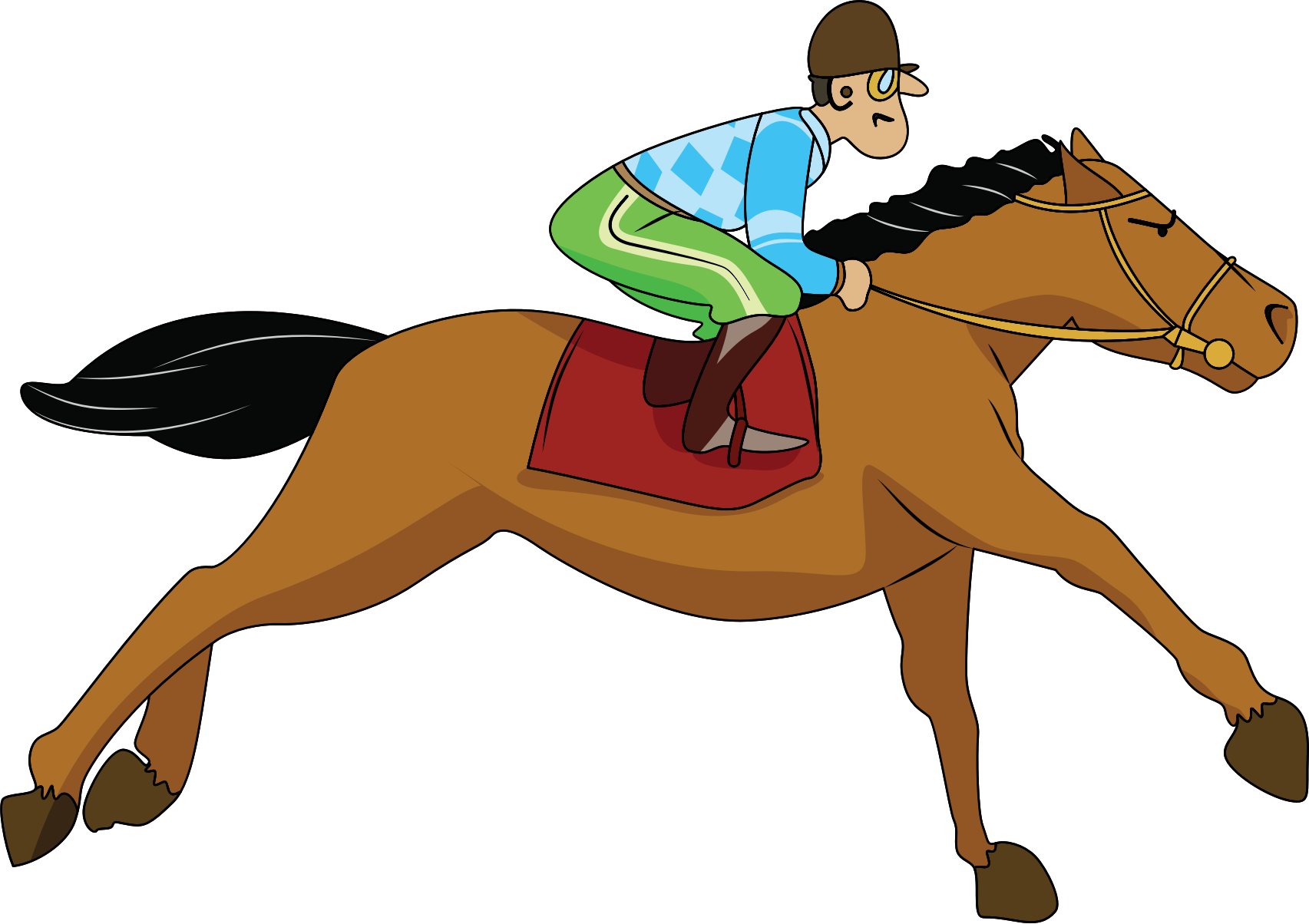Horse Racing Clipart - Clipart Kid