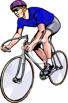 Racer Clipart 0511 1007 0301 4225 Cyclist In A Bike Race Clipart Image