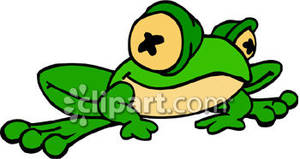 Silly Cartoon Frog   Royalty Free Clipart Picture