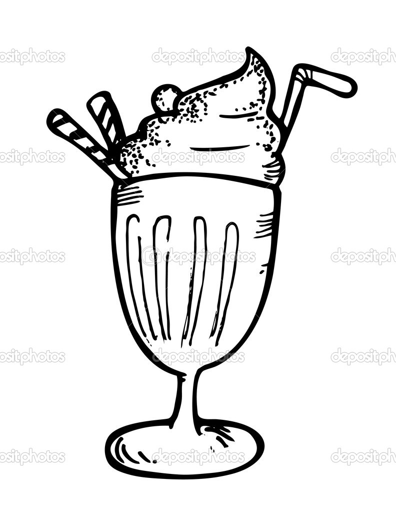 root beer float coloring pages - photo#10