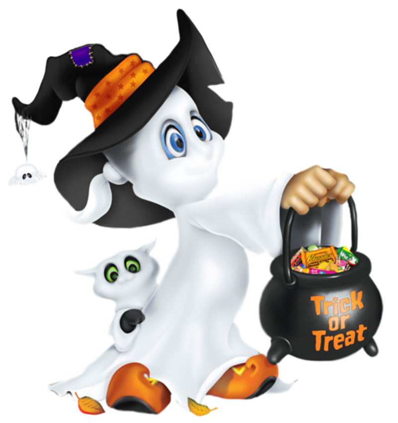 Cute Halloween  Ghost Clipart Png