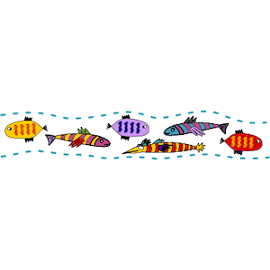 Fish Border 1 Clipart Cliparts Of Fish Border 1 Free Download