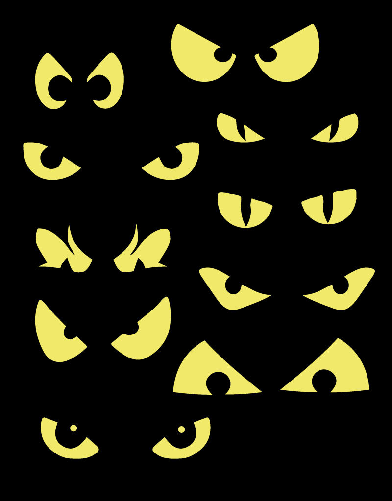 Clip Art Spooky Eyes Clip Art halloween eyes clipart kid glowing for bushes
