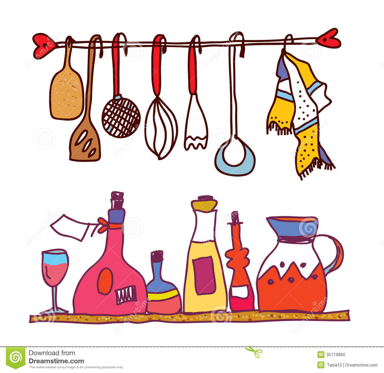 Hanging Cooking Utensils Clipart   Clipart Panda   Free Clipart Images
